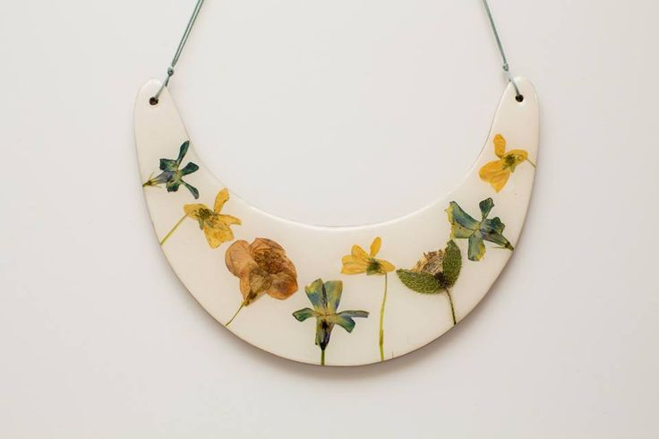 Necklace, Bib, Collar ,Statement, Flower ,Epoxy Resin https://www.facebook.com/sofijafiligranska