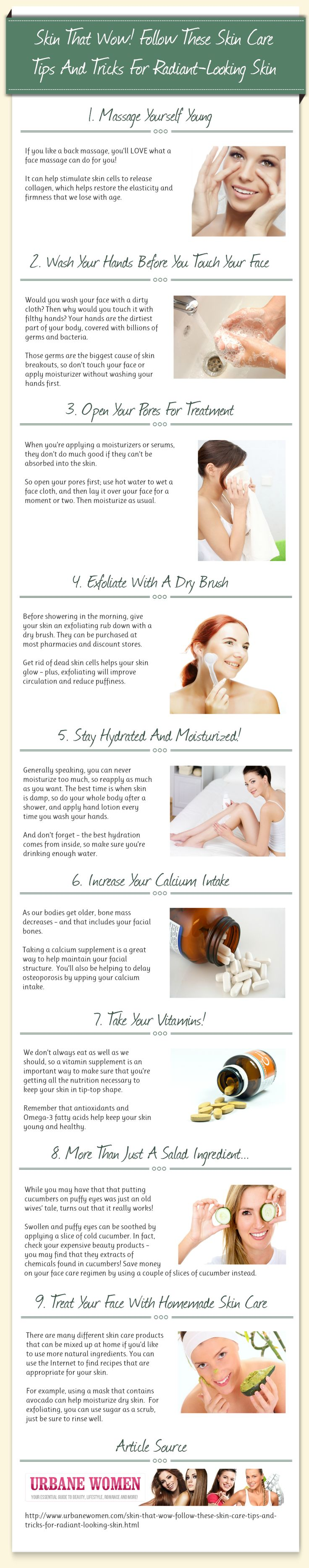 Skin That Wow! Follow These Skin Care Tips And Tricks For Radiant-Looking Skin [Infographic]