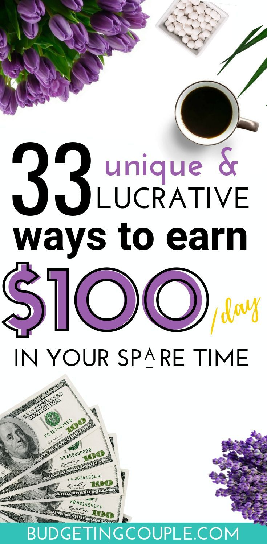 33 einzigartige Möglichkeiten, um in Ihrer Freizeit 100 US-Dollar pro Tag zu ve… – Geld machen