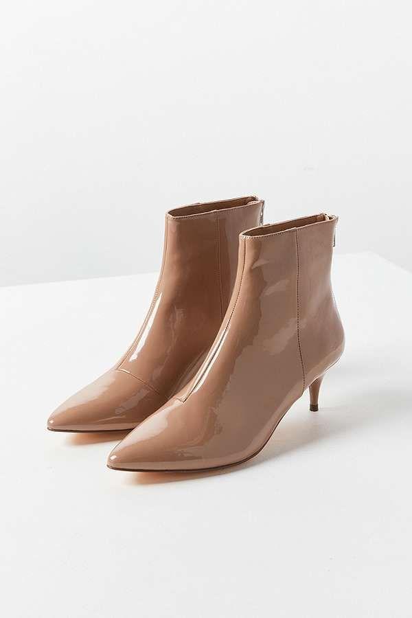 Bailey Patent Kitten Heel Ankle Boots Kitten Heel Ankle Boots