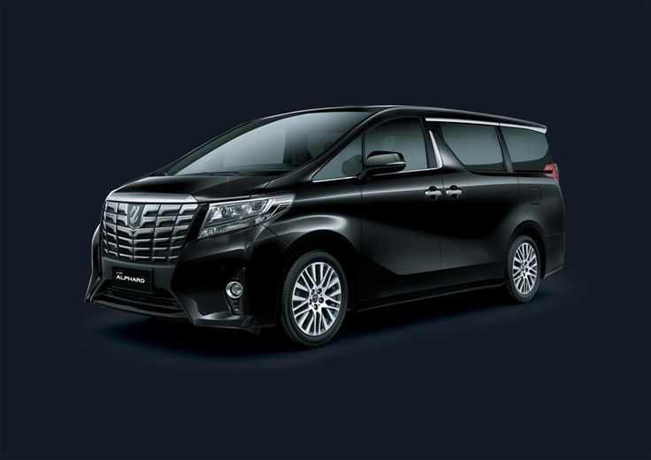 Toyota Alphard 2,5V - Exterior - Side Front view black - First Class Comfort for The Family - AUTO2000
