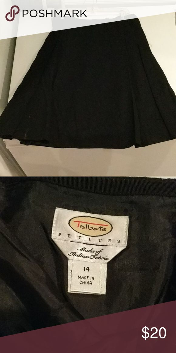 Talbot's petites size 14  black skirt Very nice women's petite size 14 black skirt from Talbot's. Thank you for shopping! Skirts Midi
