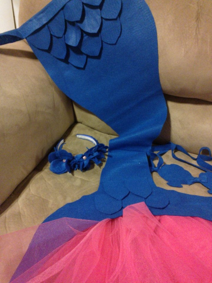 DIY no sew mermaid costume--i like no sew