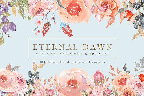 Eternal Dawn - Watercolor Set by PeachyPetal on @creativemarket