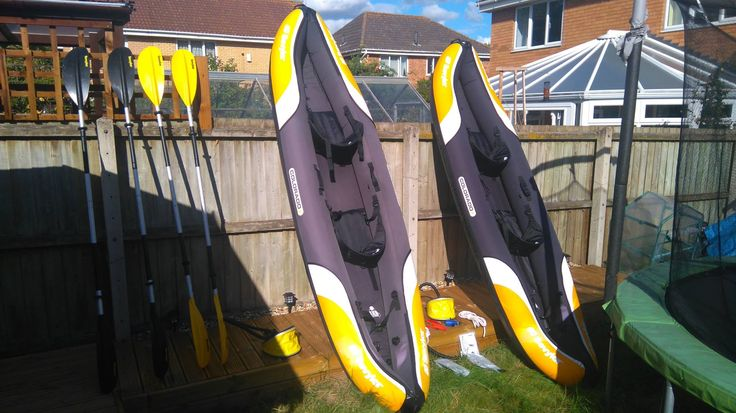 2 Sevylor Kayaks - comfortable with cushions