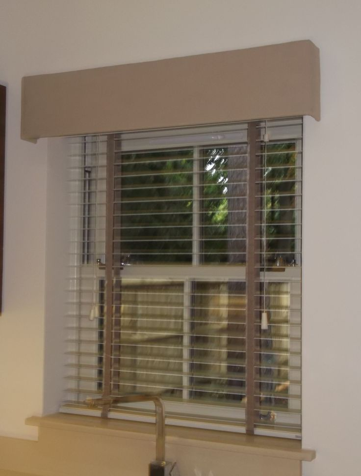 Wooden Venetian Blind With A Pelmet House Renovation