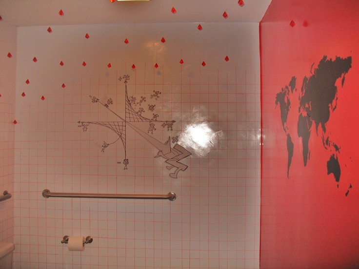 The most creatively decorated bathroom, ever, at Mathnasium's Cohasset, MA location.