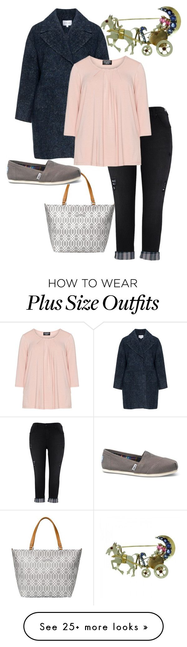 """plus size carriage"" by aleger-1 on Polyvore featuring Melissa McCarthy Seven7, Petunia Pickle Bottom, TOMS and plus size clothing"