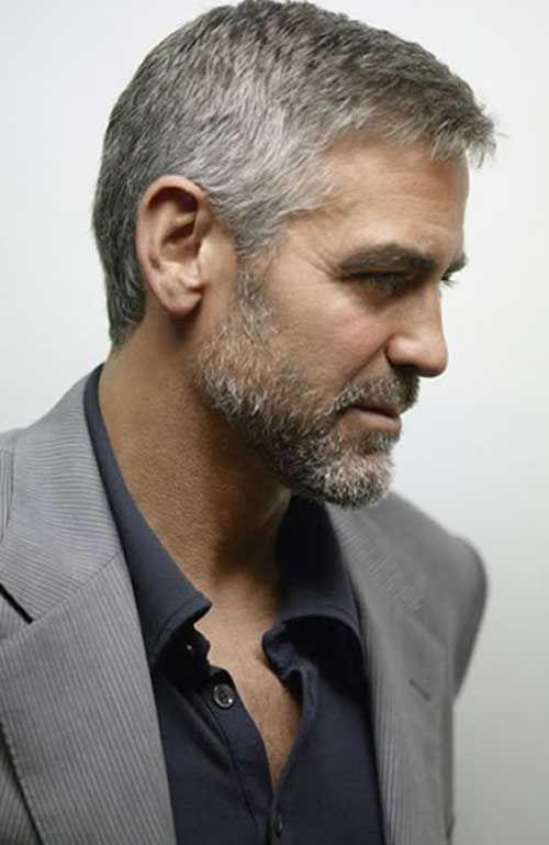 George Clooney Hair Cut Side View