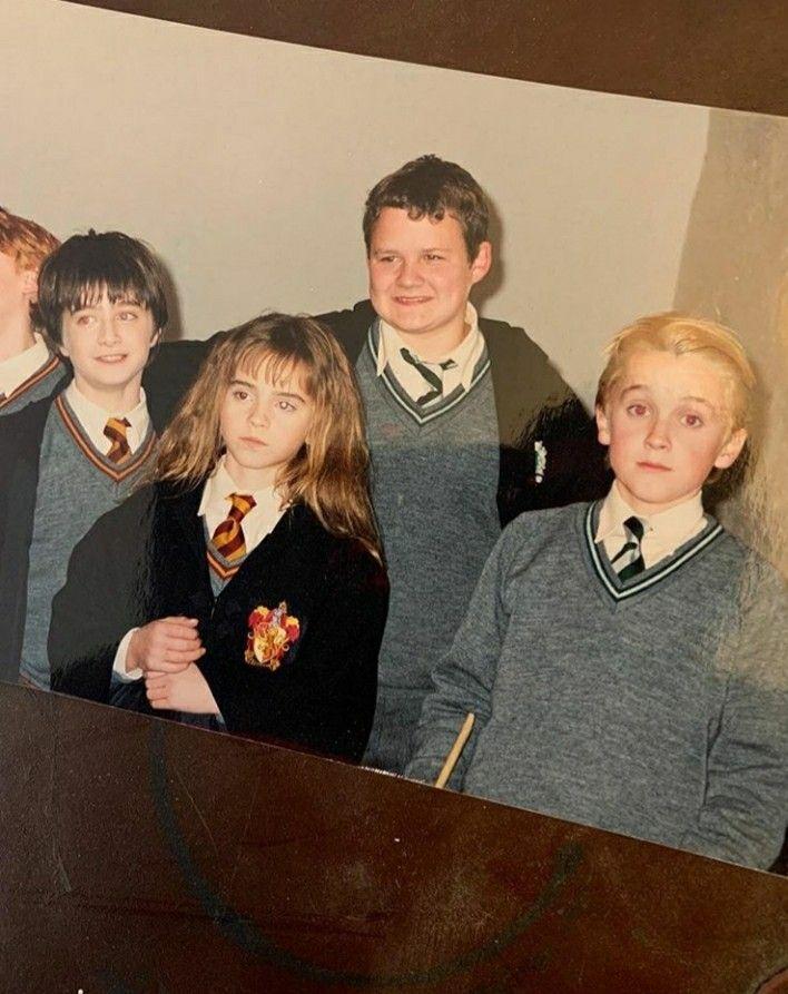 Tomfelton Danielradcliffe Emmawatson Harrypotter Dracomalfoy Joshherdman Kongrmin Cute Harry Potter Harry Potter Cast Harry Potter Pictures