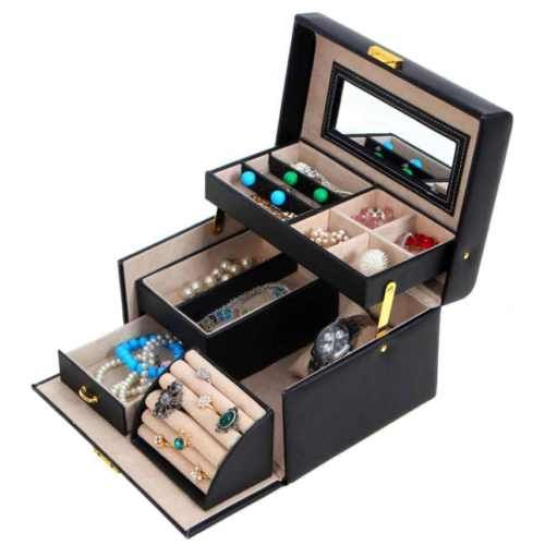 Best-Choice-Products-Leather-Jewelry-Box-And-Organizer-Watch-Travel-Case-And-Key