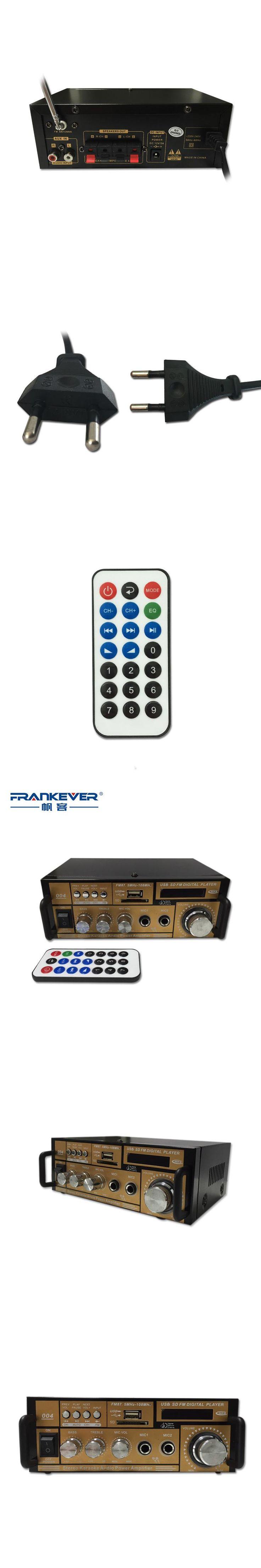 Frankever Hi Fi Digital Audio Car Amplifier Home Amplifier 2.1 High Quality DC12V AC220V-240V Professional Free shipping TELI004