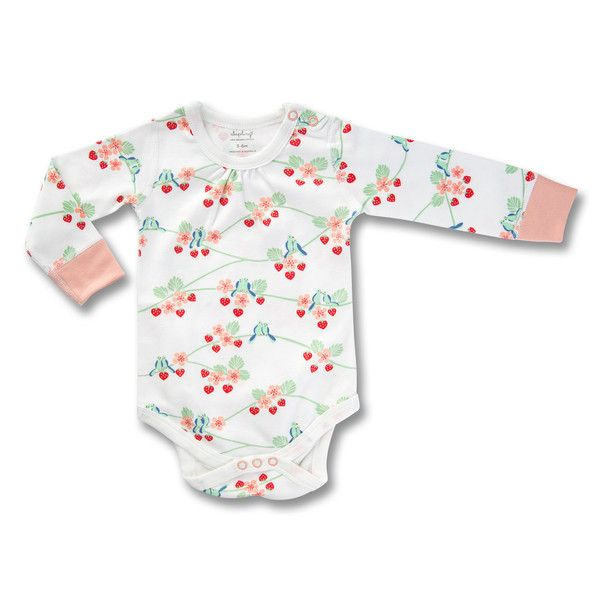 This Long Sleeve Bodysuit is exclusively designed by Sapling, an Australian company specialising in the most comfortable, highest quality 100% organic cotton children's wear.     Flight Collection - Bluebirds Made from the finest organic cotton - 100% GOTS certified. Printed with organic, 100% GOTS approved water-based dyes. Snap buttons at the neck and crotch for easy changing. Longer cuffs for folding allows for growth and longevity. Closed, flat-seam stitching.