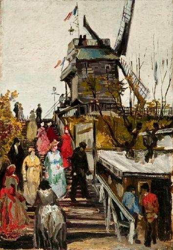 O moinho Le Blute-fin em Paris, 1886 Vincent Van Gogh (Holanda, 1853-1890) óleo sobre tela
