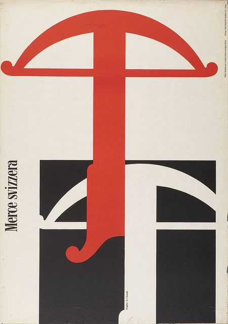 Carlo Vivarelli poster from '100 Years of Swiss Graphic Design' by Eye magazine, via Flickr