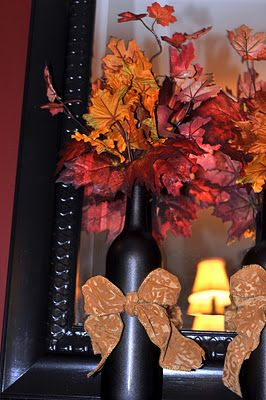 Wine Bottle Fall Decoration | Krista-Artista