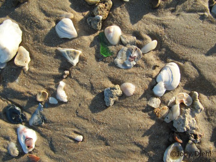 Search for sea glass at Surfside Beach, Texas Beach Treasures and Treasure Beaches.com