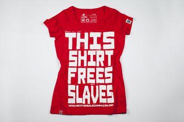 This Shirt Frees Slaves / Red Women's - Fair Trade Shop. #womens #tshirt #fairtrade