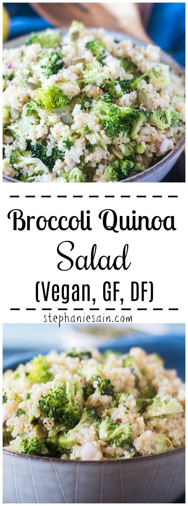This Broccoli Quinoa Salad is super easy to make and comes together in under 20 …