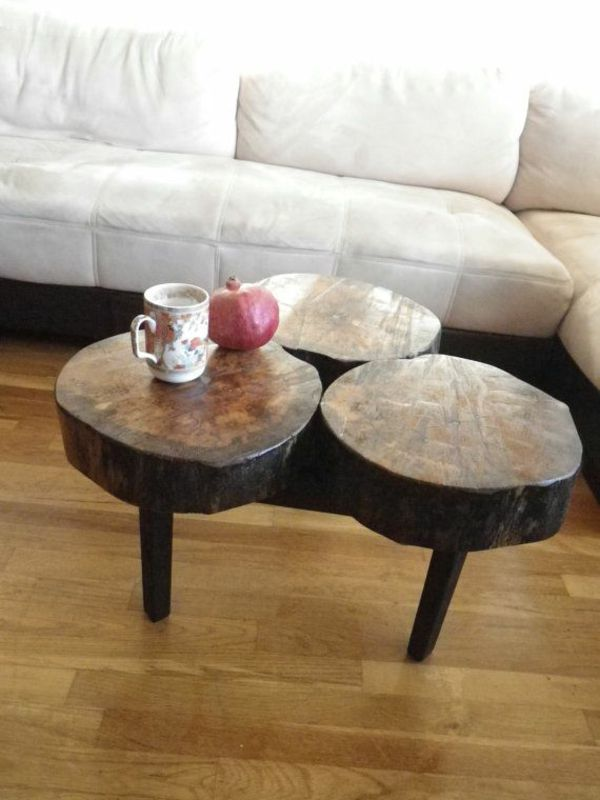 Die besten 25+ Baumstumpf Tisch Ideen auf Pinterest Baumstumpf - couchtisch aus massivholz deko sand