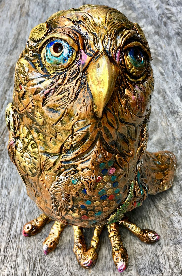 Carly Owl Edition 11 | Tracey Keller BRONZE Owl Sculpture