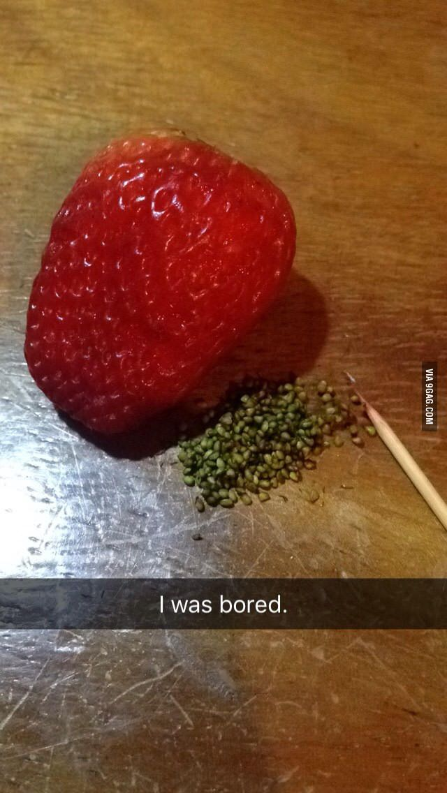 I was really bored. - 9GAG