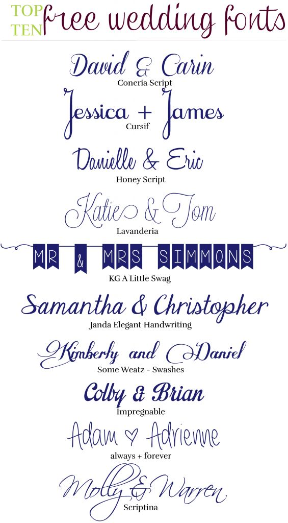 103 best wedding designs images on pinterest wedding Word font styles