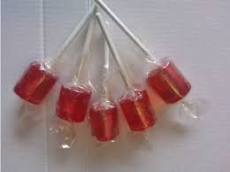 Red lollipops I dont know how made these but they were so good