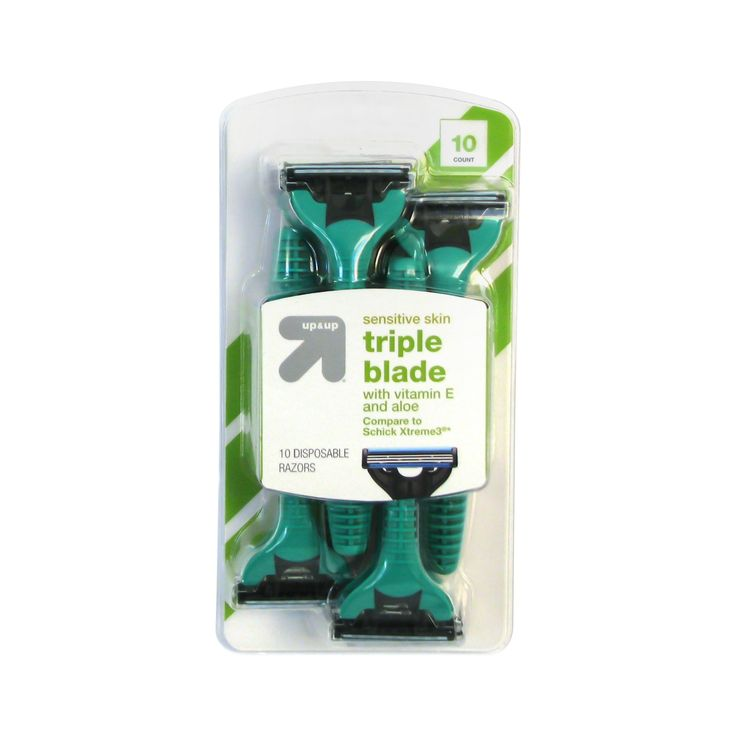 Men's Triple Blade Disposable Razors Sensitive Skin 10 ct - up & up