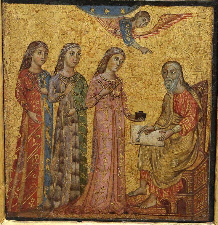 Deodato Orlandi - Scene della vita del Battista: imposizione del nome - Gemäldegalerie, Berlino