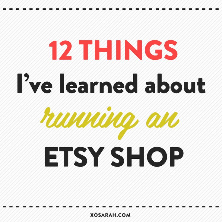 After 200 sales, here are 12 things I've learned about running an #Etsy shop