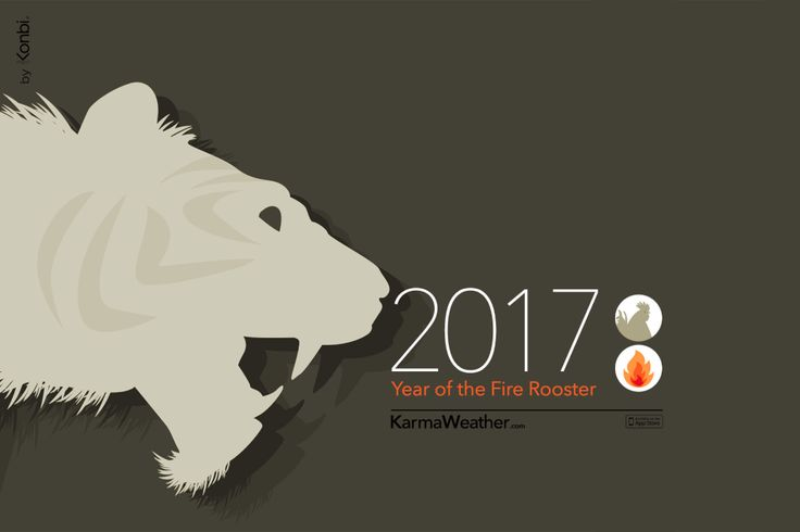 Tiger 2017 Chinese Horoscope by Karma Weather #zodiac #ChineseNewYear #karmaweather