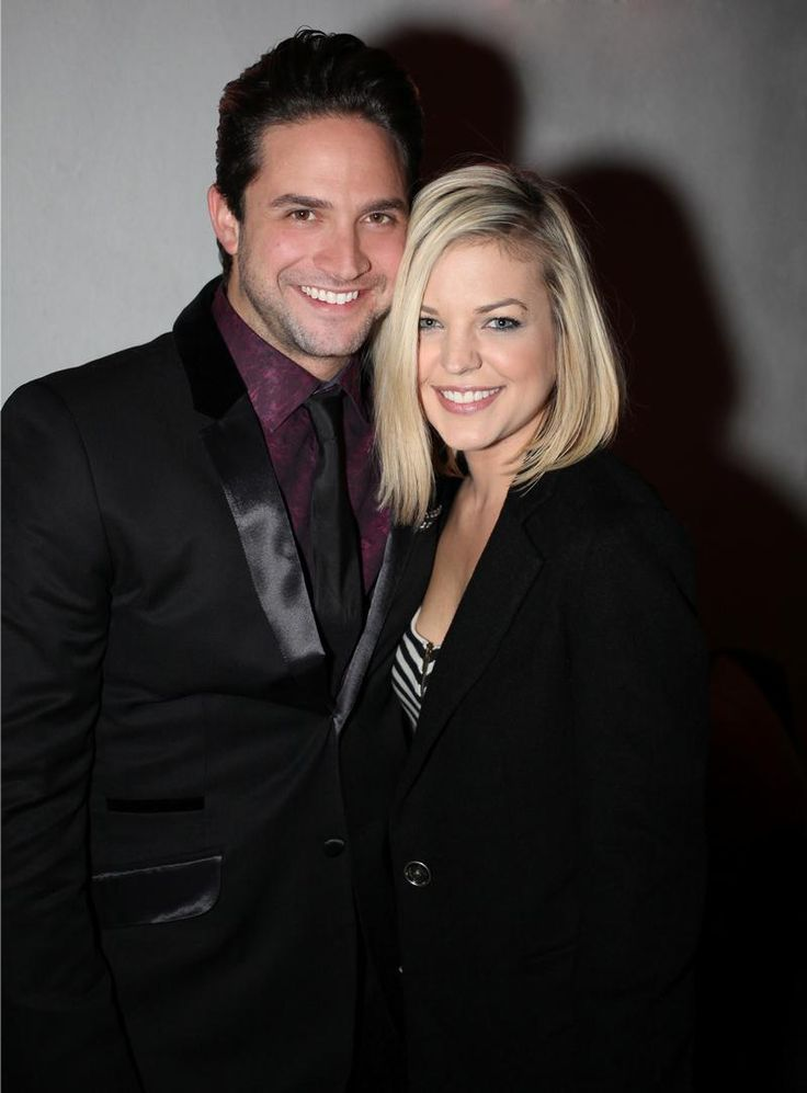 Kirsten Storms & Brandon Barash  actors from General Hospital.  Now parents and married.