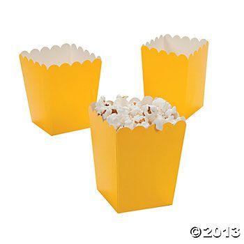 oriental trading company  Mini Popcorn Boxes - Yellow  $6.00 24 Piece(s)