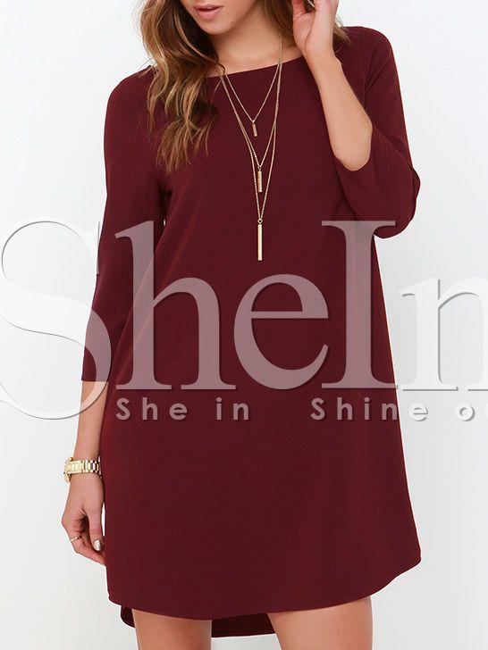 Negozio Vestito maniche lunghe color vinaccia on-line. SheIn offre Vestito maniche lunghe color vinaccia & di più per soddisfare le vostre esigenze di moda.