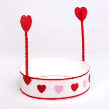 St. Valentine Hat.  {Heart Antenna Move When You Shake Your Head.}