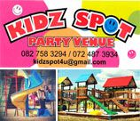 Party Plot / Kidz Spot is situated in Pretoria East, you will be surprised to be surrounded by a beautiful countryside. We have an amazing jungle gym, trampolines, jumping castles, bootcamp / leadership course where little boys need to plan and think, cooking room where little master chefs can make magic and a pamper parlour for little girls where they let their hair loose and relax while being pampered.