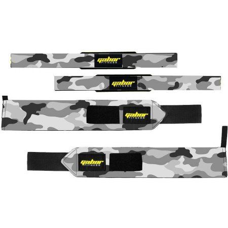 Gabor Fitness Heavy-Duty Weight-Lifting Wrist Wraps and Straps Combo Package