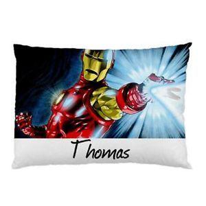 Personalized-Ironman-Comic-Pillowcase-Childrens-Kids-You-Choose-Name
