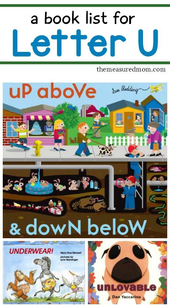 List of letter U books... great to read alongside letter U activities