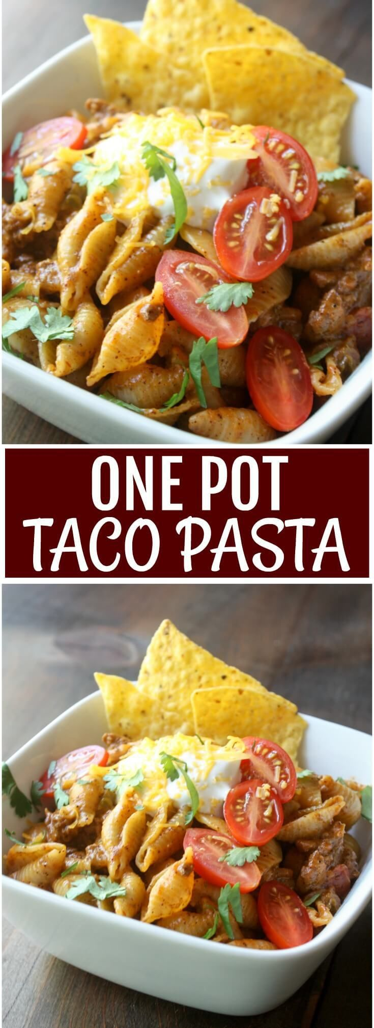 Cheesy beefy taco pasta is what's for dinner. Kids love this One Pot Taco Pasta recipe so be sure to put on this week's menu.: