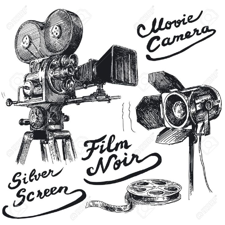 Movie Camera-original Hand Drawn Collection Royalty Free Cliparts, Vectors, And Stock Illustration. Image 13935838.