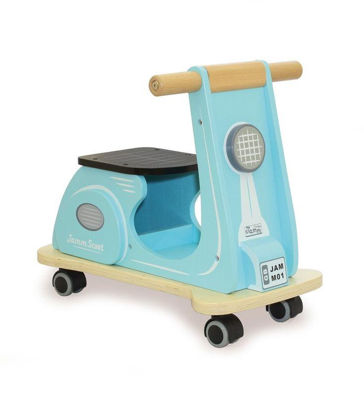 Indigo Jamm Aqua Wooden Scooter Front