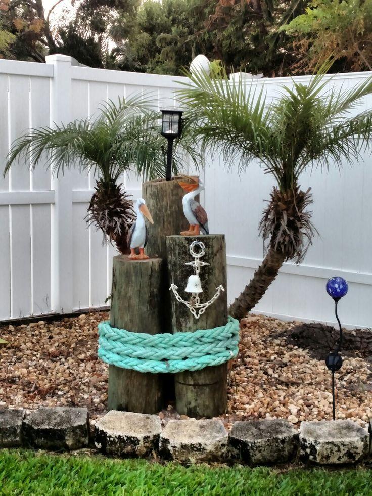 Garden Decor Nautical Outdoor Decor Beach House Decor Garden Decor
