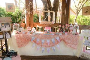 Tea Party Girls Birthday Party Shabby Chic by LillianHopeDesigns