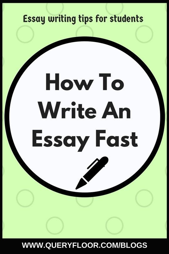 Compare And Contrast High School And College Essay Query Floor  How To Write An Essay Fast How To Start A Proposal Essay also Thesis Statements For Persuasive Essays How To Write An Essay Fast  Study  Pinterest  Writing Essay  What Is An Essay Thesis