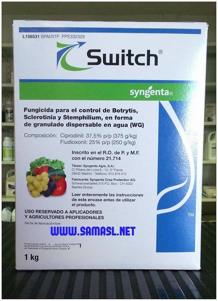 Switch. El fungicida de más alta eficacia contra podredumbres causadas por Botrytis sp., Sclerotinia sp., Monilinia sp., Aspergillus sp. y Stemphylium sp. en cultivos hortícolas.