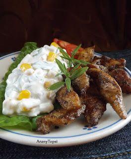AranyTepsi: Mángoldos kukoricasaláta pirított csirkecsíkokkal