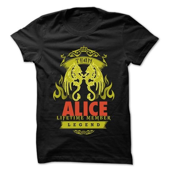 Team ALICE - 999 Cool Name Shirt ! - #tshirt painting #crochet sweater. LIMITED TIME PRICE => https://www.sunfrog.com/Hunting/Team-ALICE--999-Cool-Name-Shirt-.html?id=60505