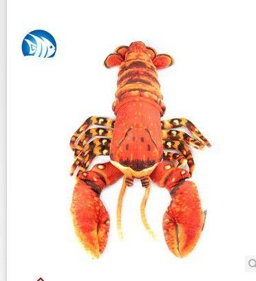 Чучела животных Моделирования Palinuridae омар плюшевые игрушки около 33 см красный или синий омар кукла t3065